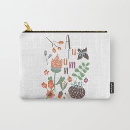 Hedgehog Autumn Garden Carry-All Pouch