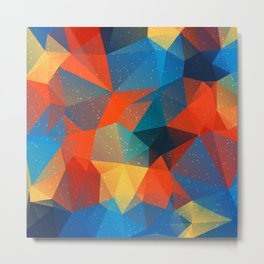 Abstract Polygonal Pattern 14 Metal Print