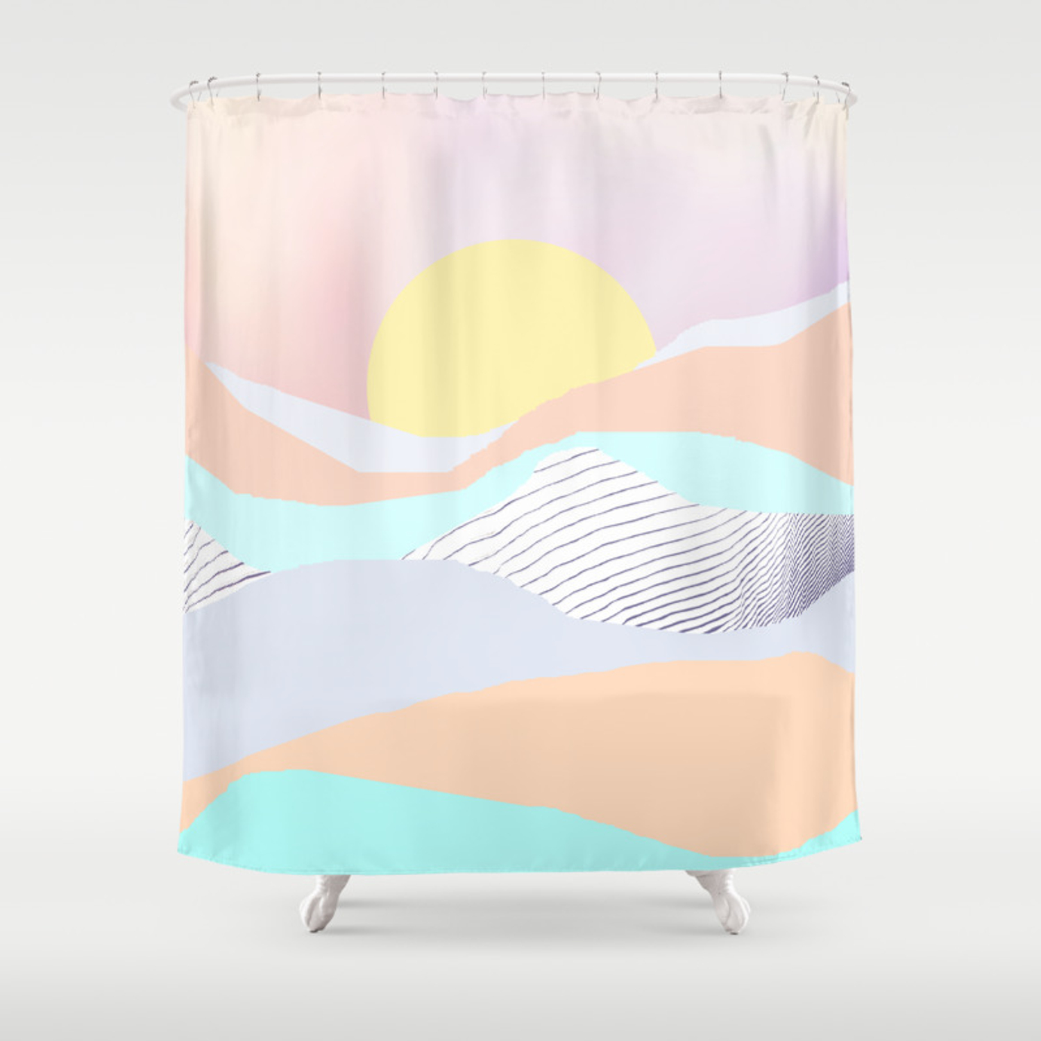 Rise Shower Curtain By Wobins Society6
