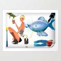 surrealism Art Prints featuring Surrealism by amanvel