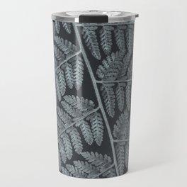 Black fern | Botanical leaf macro photography Travel Mug