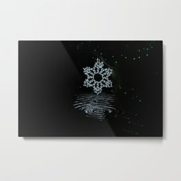 A Ripple of Christmas Cheer Metal Print