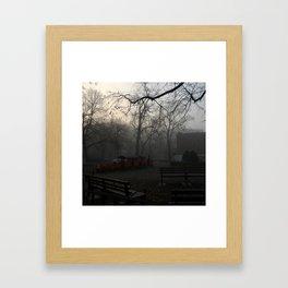 December Fog Framed Art Print