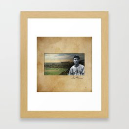 Red Sox Ted Williams baseball montage vintage Framed Art Print