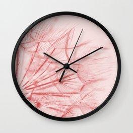 Dandelion In Pink Wall Clock
