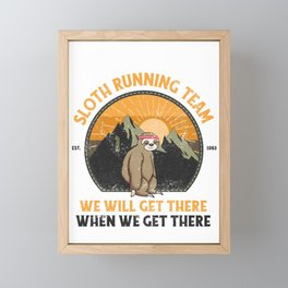 Sloth Running, Sloth Running Team Framed Mini Art Print
