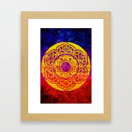 """SACRED GEOMETRY"" WATERCOLOR MANDALA (HAND PAINTED) BY ILSE QUEZADA Framed Art Print"