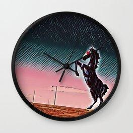 Blucifer Dusk Wall Clock