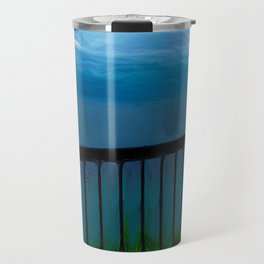 view of the infinite blue sea oil painting Travel Mug