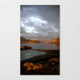 (#149) The Gorge Morning Glow Canvas Print