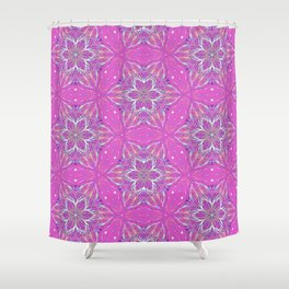 Violet stars Pattern Shower Curtain