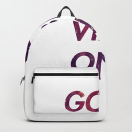 Good vibes only 1 Backpack