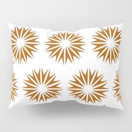 Caramel Modern Sunbursts Pillow Sham