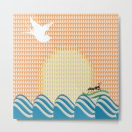 THE ANT & THE DOVE Metal Print