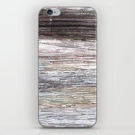 Gray abstract watercolor iPhone Skin