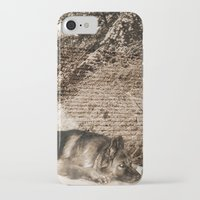 german shepherd iPhone & iPod Cases featuring German Shepherd by Erika Kaisersot