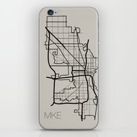 milwaukee iPhone & iPod Skins featuring Milwaukee by linnydrez