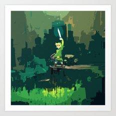 Legend Of Zelda Link Painting Art Art Print