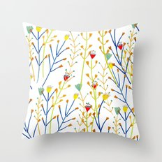 Floral pattern, illustration pattern, flowers, prretty Throw Pillow