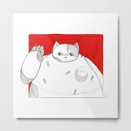 What if Baymax was a Cat Metal Print