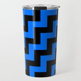 Black and Brandeis Blue Steps RTL Travel Mug
