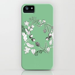 Forest Wreath iPhone Case