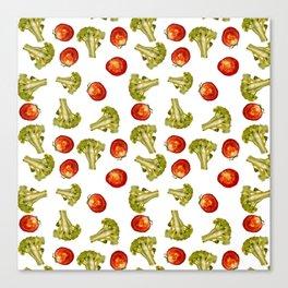 Broccoli and tomato Canvas Print