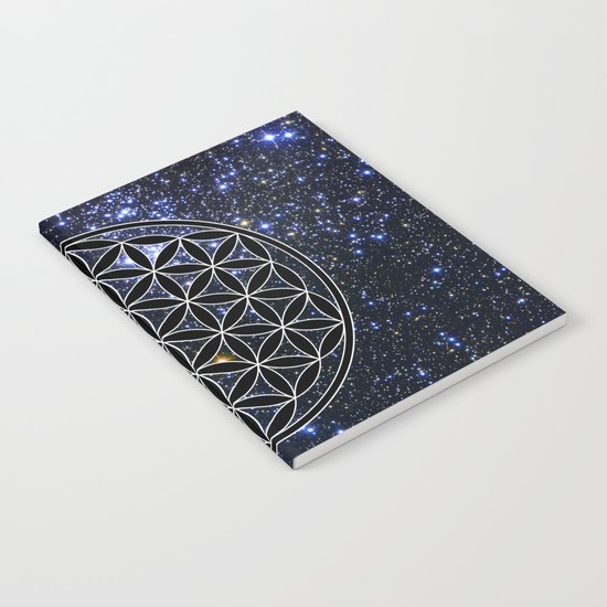Flower of life in the space Notebook