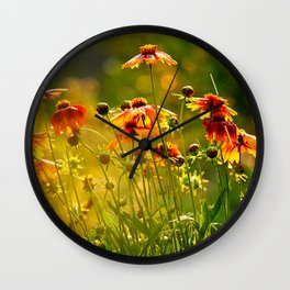 Greeting the Summer Rain Wall Clock