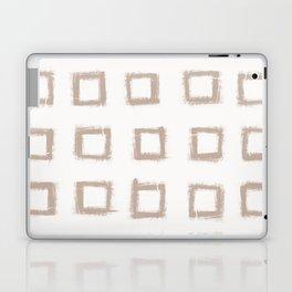 Square Stroke Dots Nude on White Laptop & iPad Skin