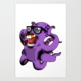 Flight of the Octopus - Mob's Accountant Version Art Print