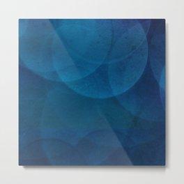 Bokeh in Blue Metal Print