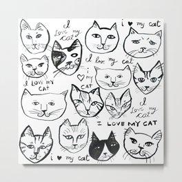 I love my CAT heads Metal Print