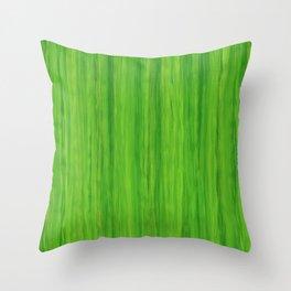 Green Melon Colored Vertical Stripes Throw Pillow