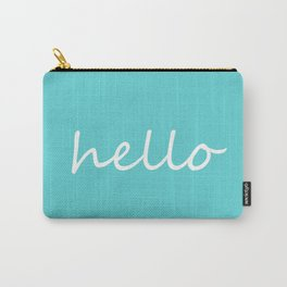 Hello Turquoise Carry-All Pouch