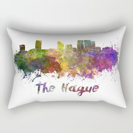 The hague skyline in watercolor Rectangular Pillow