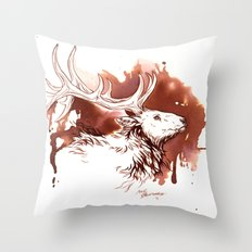 Wapiti Throw Pillow