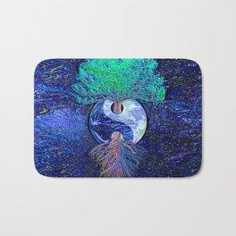 Tree of Life Yin Yang Earth Space Bath Mat
