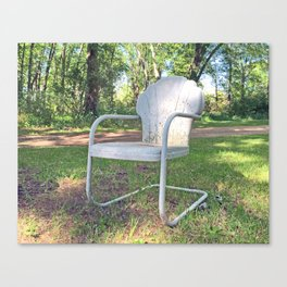 Vintage Chair by the Road Canvas Print