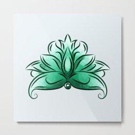 The mint loto Metal Print