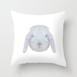 Bunny Portrait Throw Pillow
