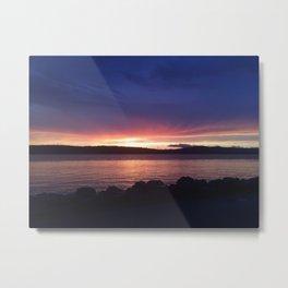 Sunset Sky NY Metal Print