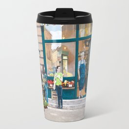 Market and Mural Merge Travel Mug