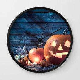 Halloween Jack O Lantern Pumpkin Head Decoration Ultra HD Wall Clock