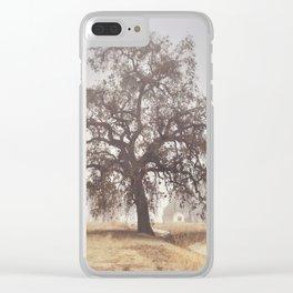 Hazy Tree Clear iPhone Case