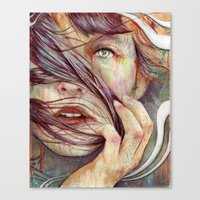 michael jackson Canvas Prints featuring Opal by Michael Shapcott