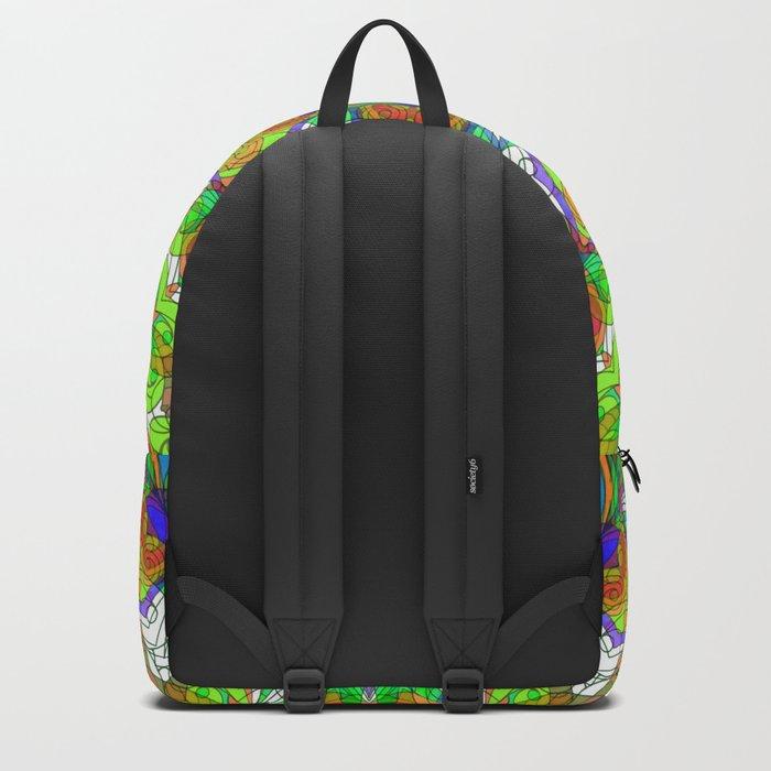 Drawing Floral Doodle G222 Backpack