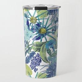 FLOWERPOWER (BLUE) Travel Mug