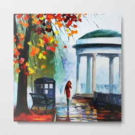 Tardis Stay Watching The Girl Metal Print