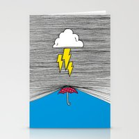 shield Stationery Cards featuring Shield by Prince Arora